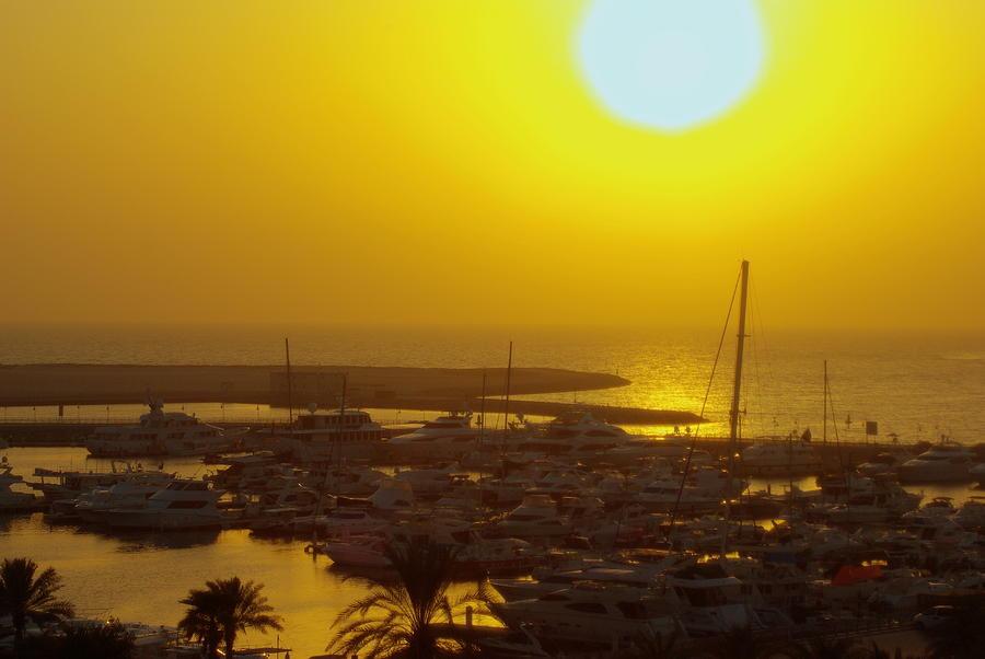 Dubai Marina Jumeirah Sunset Photograph by Iain MacVinish