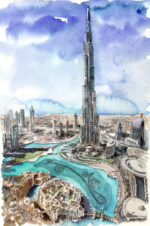 Dubai View Painting
