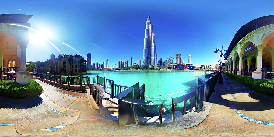 City Photograph - Dubai Burj Khalifa Panorama by Ibrahim Aldaraan