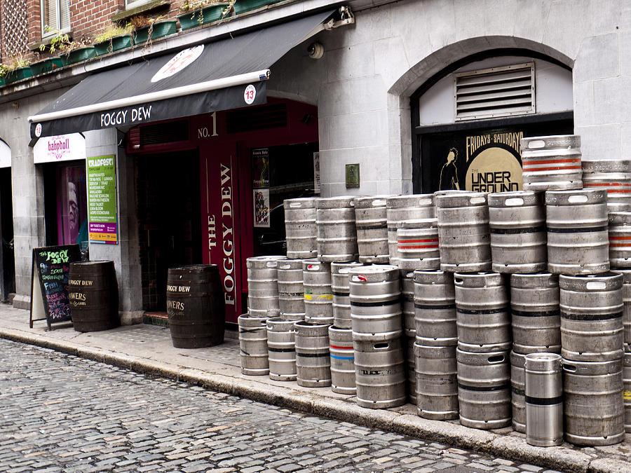 Dublin Photograph - Dublin Beer Kegs by Rae Tucker