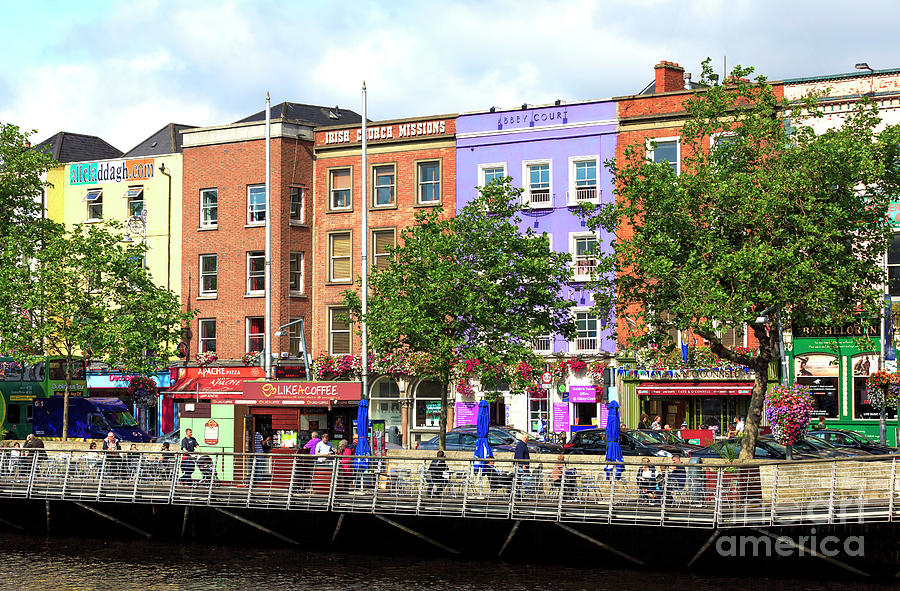 Buildings Photograph - Dublin Building Colors by John Rizzuto