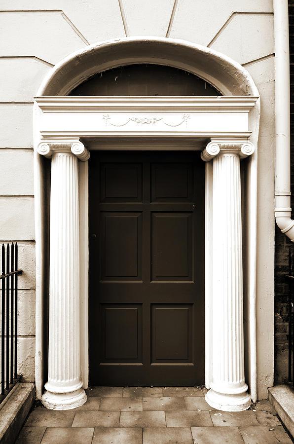 Door Photograph - Dublin Doors Ireland Georgian Style With Roman Columns Sepia by Shawn OBrien & Dublin Doors Ireland Georgian Style With Roman Columns Sepia ...