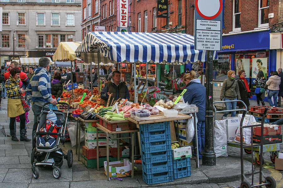 Dublin Ireland Street Market by John A Megaw