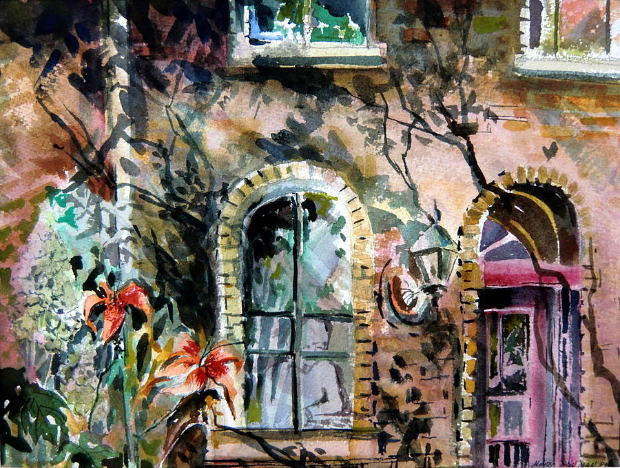 Pub Painting - Dublin Pub by Mindy Newman