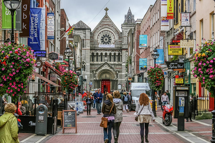 Dublin's Grafton Street by John A Megaw