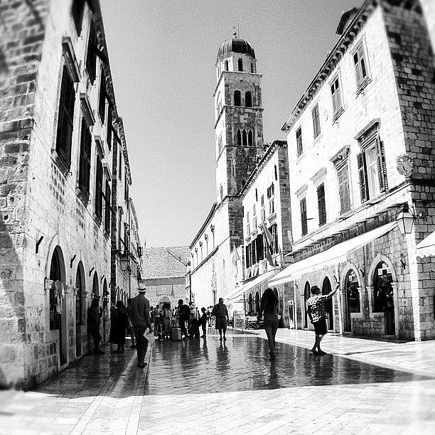 Beautiful Photograph - #dubrovnik #b&w #edit by Alan Khalfin