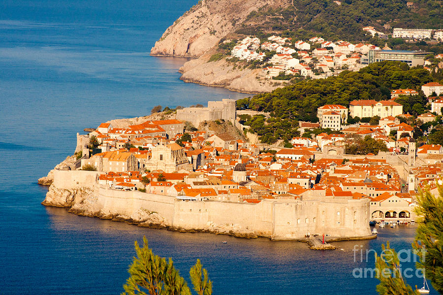 Aerial Photograph - Dubrovnik Old City by Thomas Marchessault
