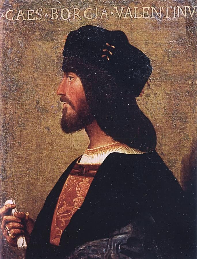 Cesare Painting - Duca Valentino by Bartolomeo Veneto