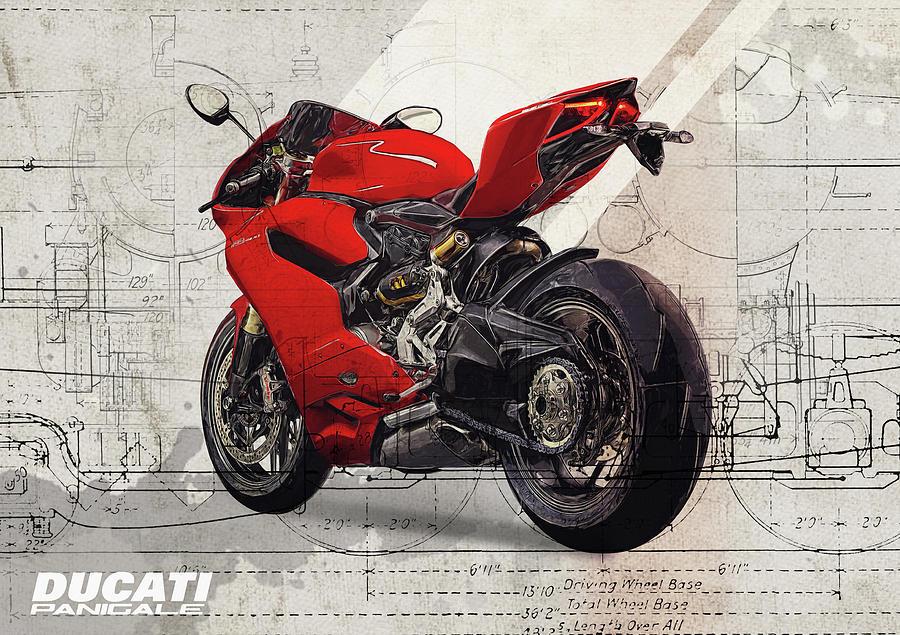 Motorcycle Digital Art - Ducati 1199 Panigale by Yurdaer Bes