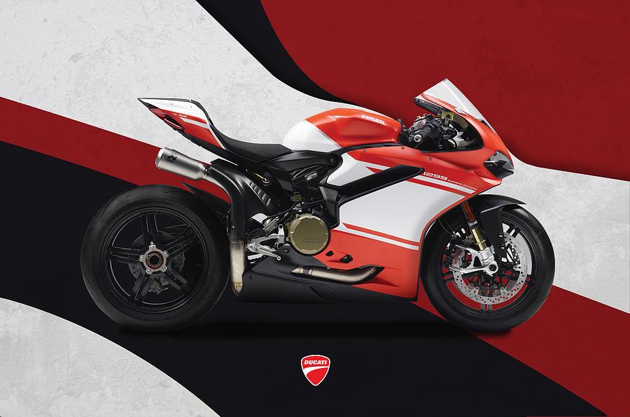 Ducati Digital Art - Ducati 1299 Superleggera by Srdjan Petrovic