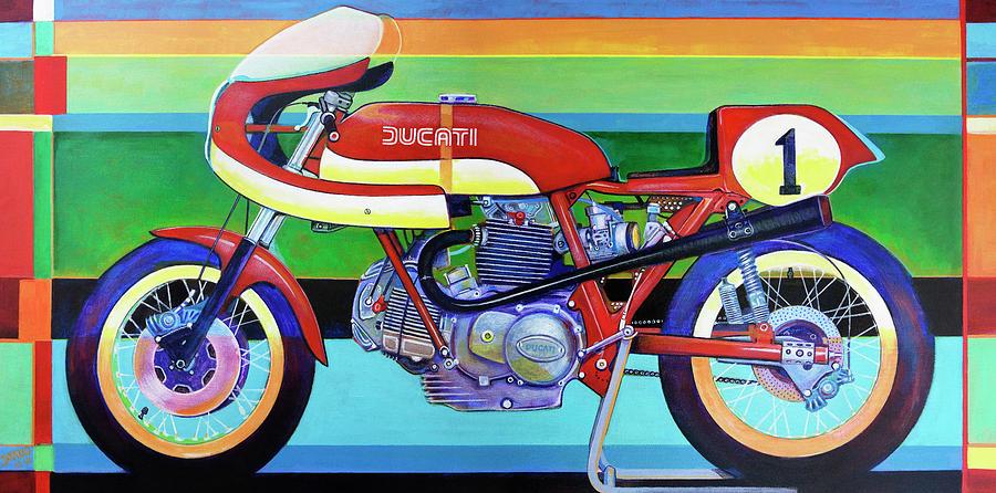 Ducati Painting - Ducati 750 Ss Corsa by D-mark-o