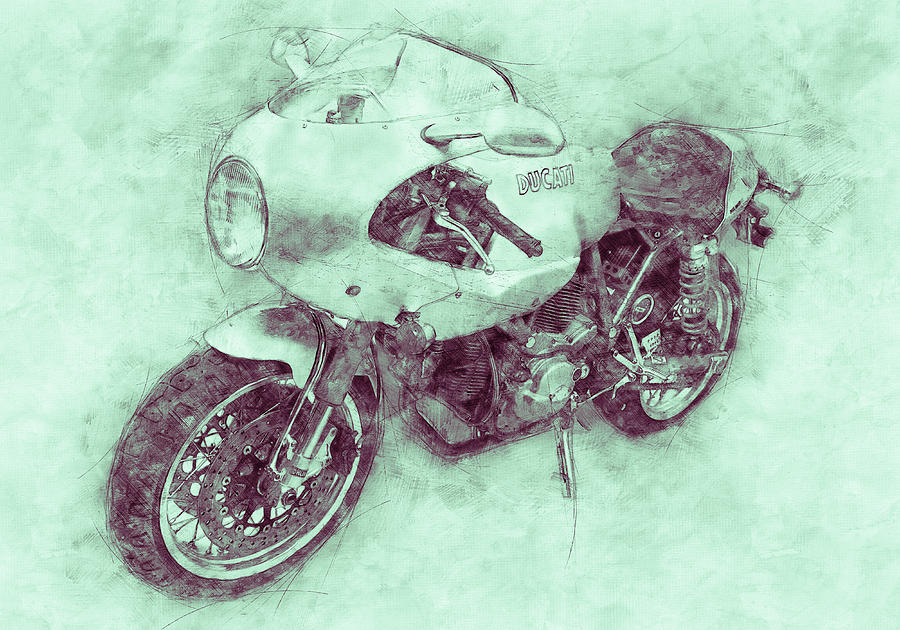 Ducati Paulsmart 1000 Le 3 - 2006 - Motorcycle Poster - Automotive Art Mixed Media