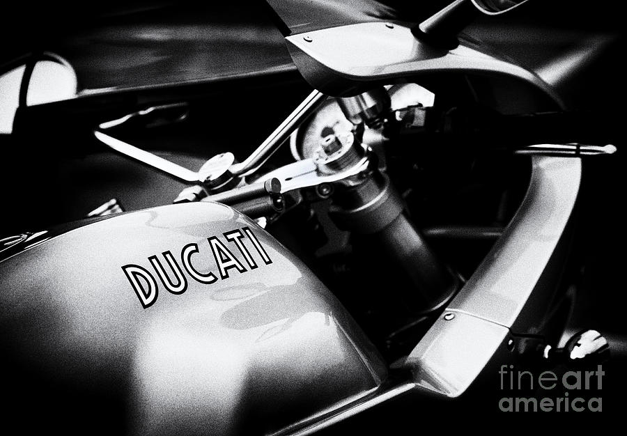 Paul Smart Photograph - Ducati Ps1000le Monochrome by Tim Gainey