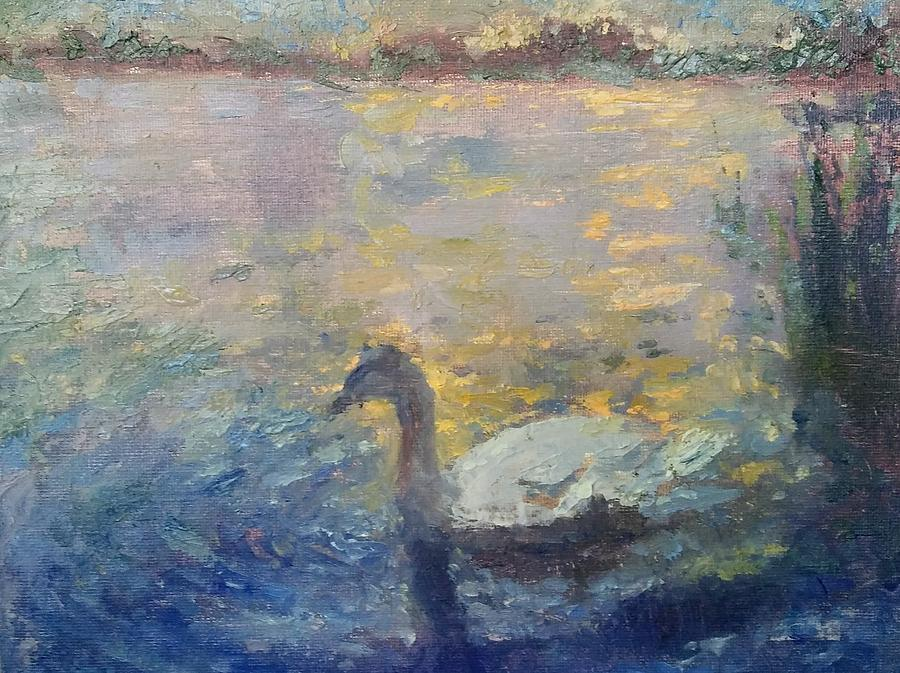 Landscape Painting - Duck by Brian Kardell