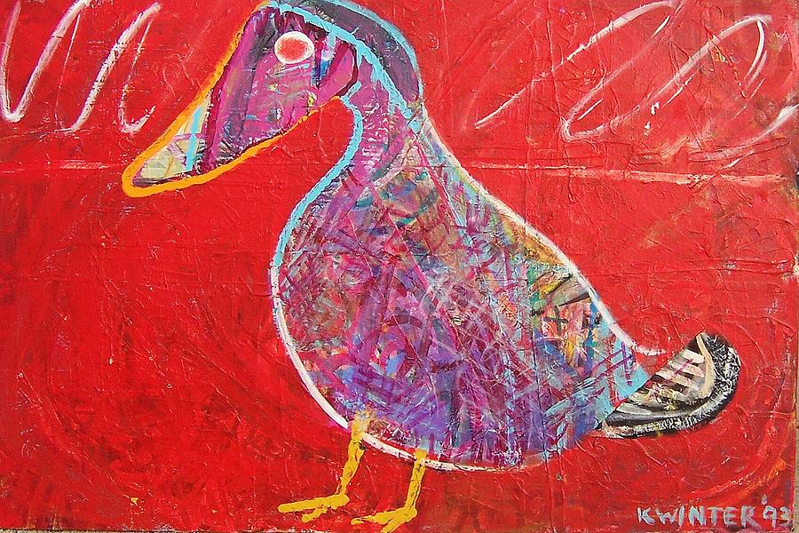 Duck Mixed Media by Dave Kwinter