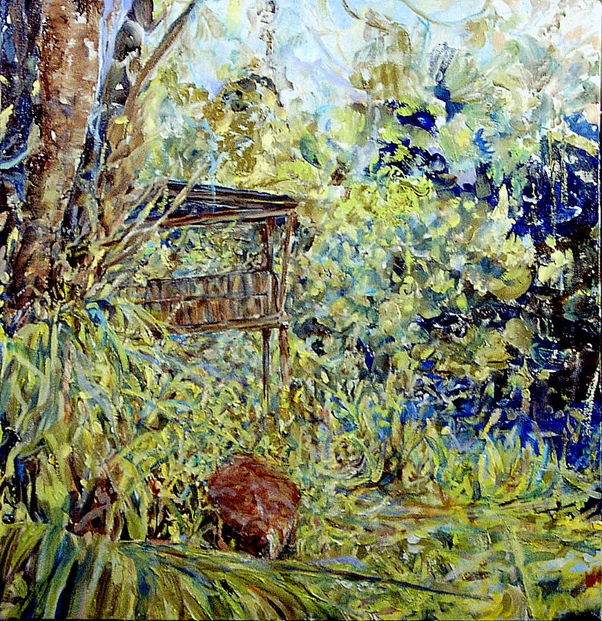 Florida Landscape Painting - Duck House Echos by Caroline Comings
