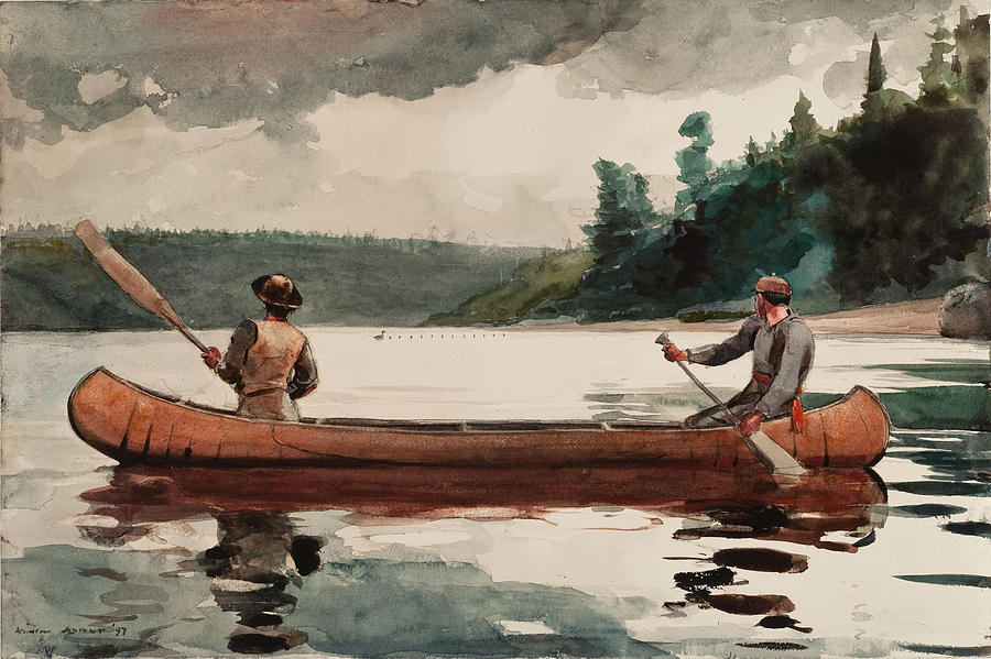 Winslow Homer Painting - Duck Hunting by Winslow Homer