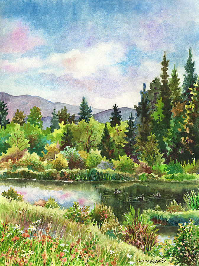 Duck Pond at Caribou Ranch by Anne Gifford