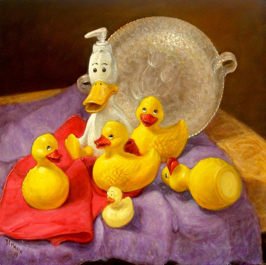 Realism Painting - Duck Soap by Donelli  DiMaria