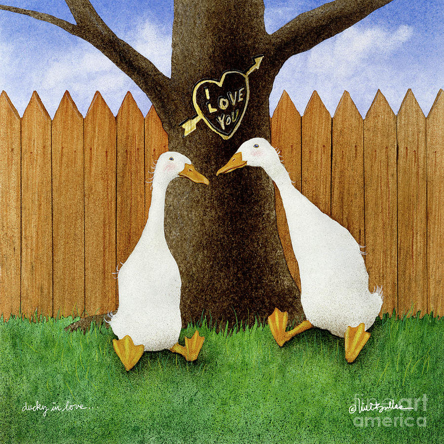 Will Bullas Painting - Ducky In Love... by Will Bullas
