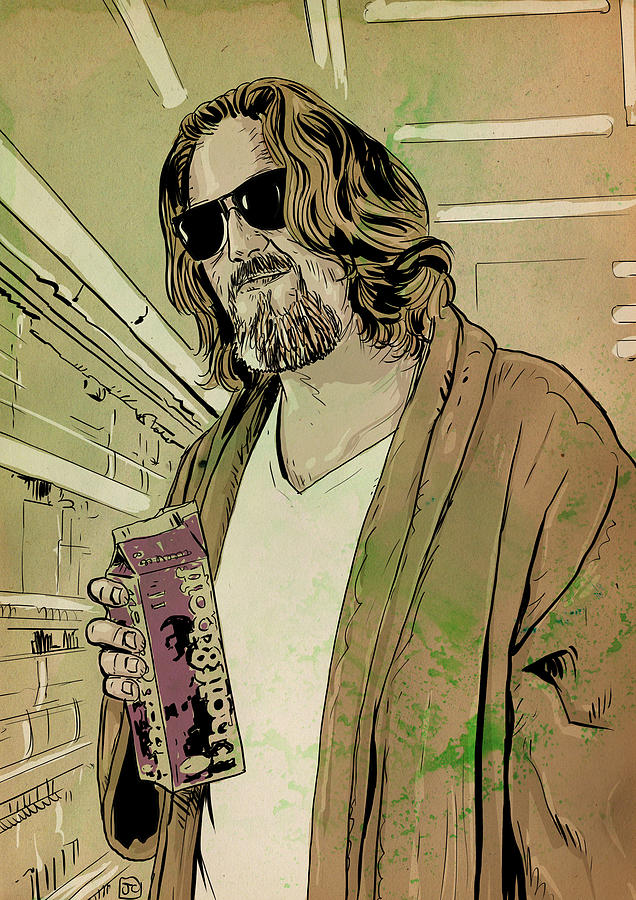 Jeff Bridges Drawing - Dude Lebowski by Giuseppe Cristiano