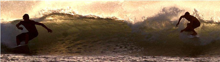 Surf Photograph - Dudes by Richard Gerken