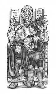 Dueling Bards Drawing by Don Higgins