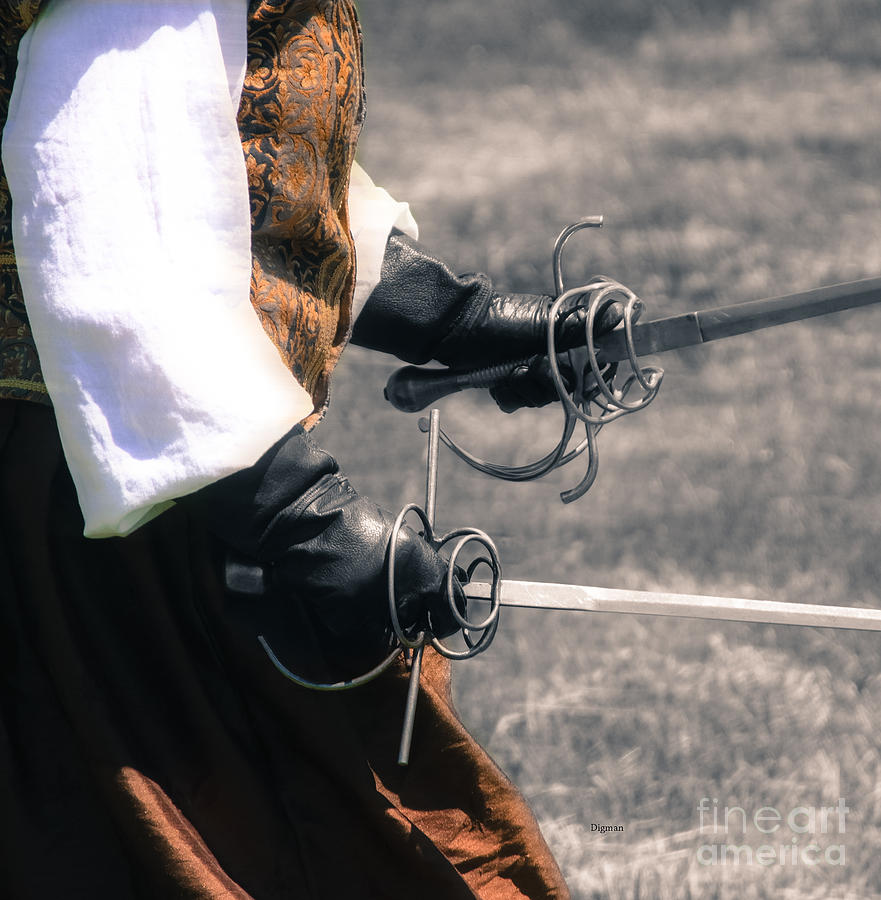Fencing Photograph - Duet At Arms  by Steven Digman