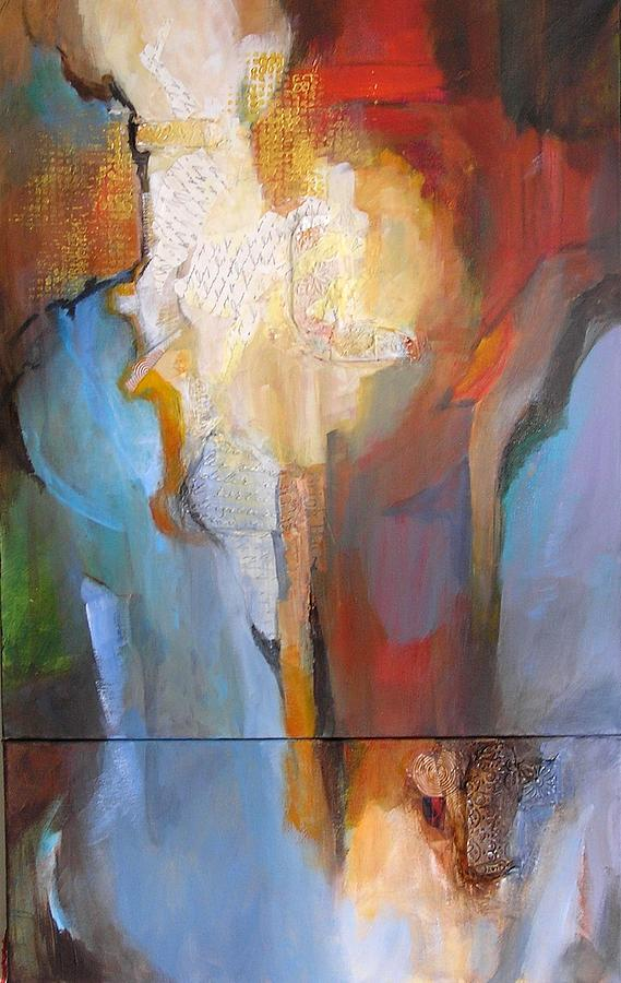 Abstract Painting - Duet by Barbara Couse Wilson