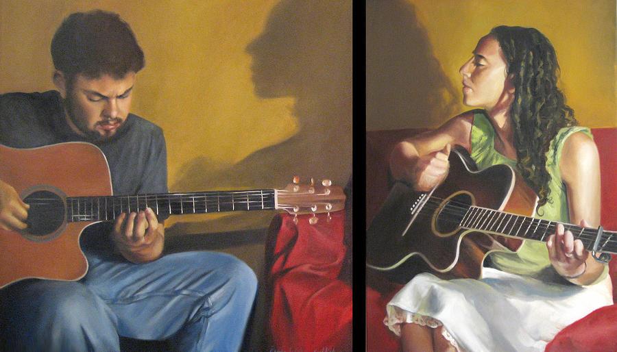 Musicians Painting - Duet by Brooke Walker-Knoblich