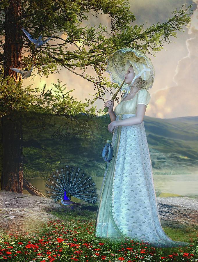 Tree Digital Art - Duet by Mary Hood