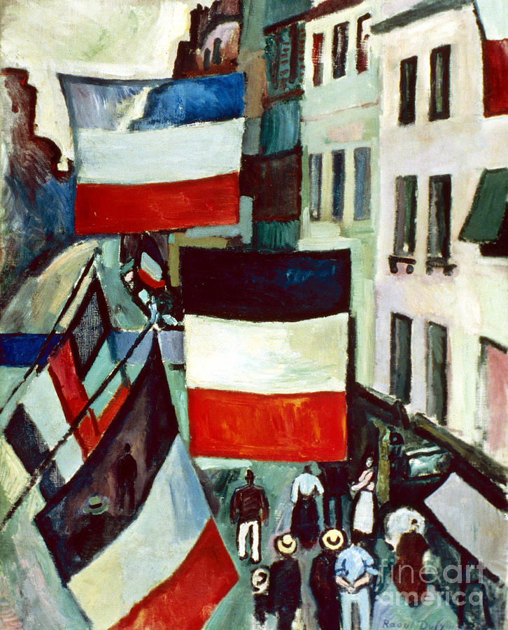 1906 Photograph - Dufy: Flags, 1906 by Granger