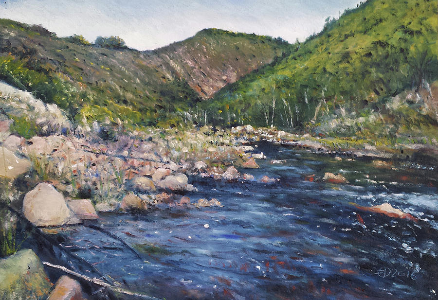 Impressionism Painting - Duivenhoks Dam Heidelberg South Africa 2016 by Enver Larney