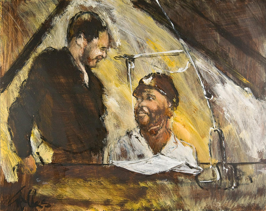Musician Painting - Duke And Count by William  Glass