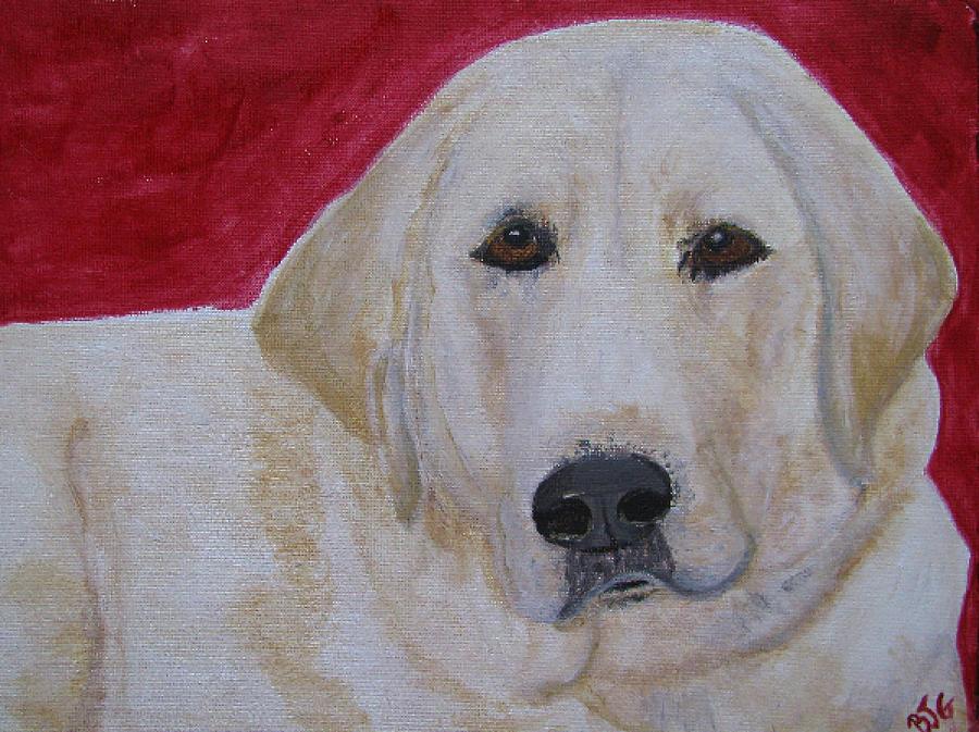 Labrador Retriever Painting - Duke by Barbara Giordano