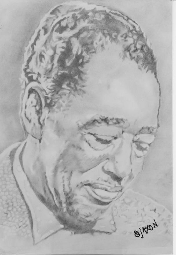 Jazz Artwork Drawing - Duke Ellington by B Jaxon