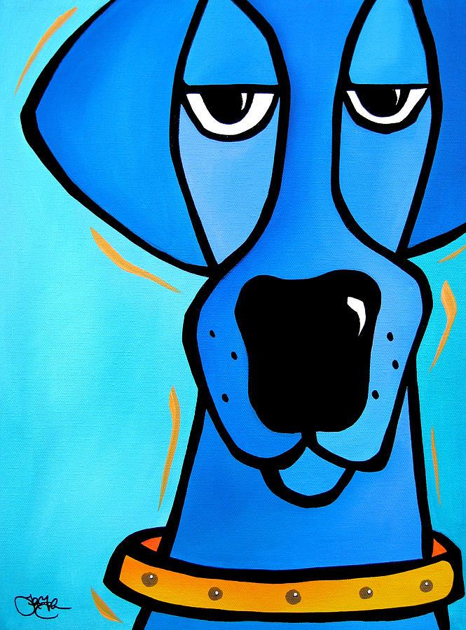 Fidostudio Painting - Duke by Tom Fedro - Fidostudio