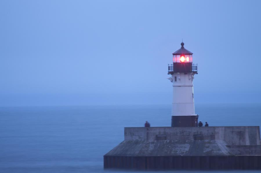 Lighthouse Photograph - Duluth N Pierhead 24 by John Brueske