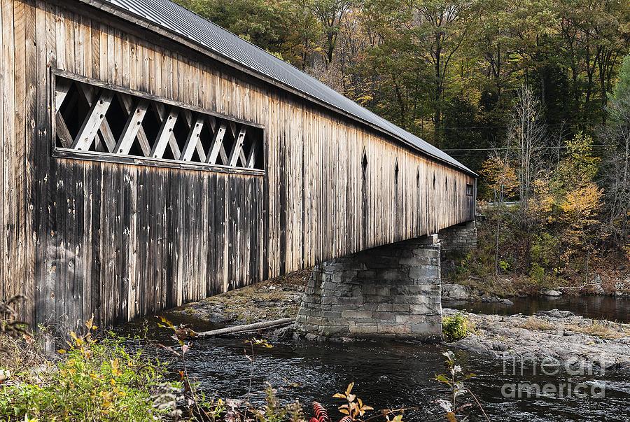 Americana Photograph - Dummerston Covered Bridge by John Greim