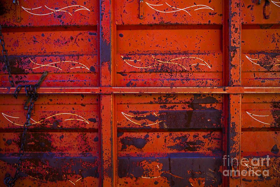 Color Photograph - Dump Truck by Barbara Schultheis