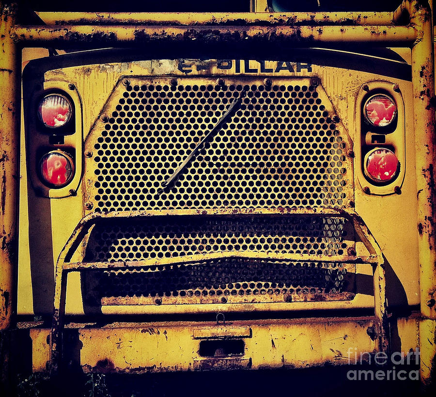 Caterpillar Photograph - Dump Truck Grille by Amy Cicconi