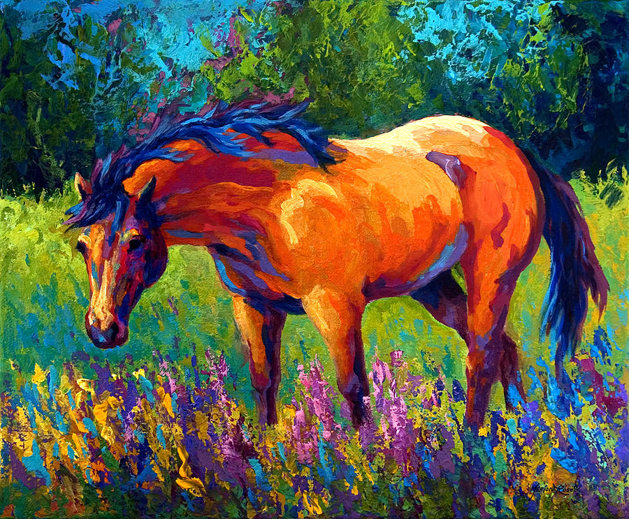 Horses Painting - Dun Mare by Marion Rose