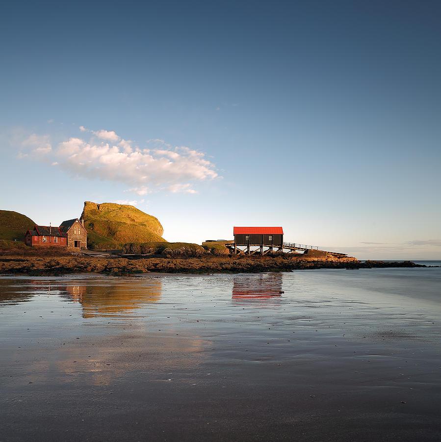 Southend Photograph - Dunaverty Rock Reflections by Grant Glendinning
