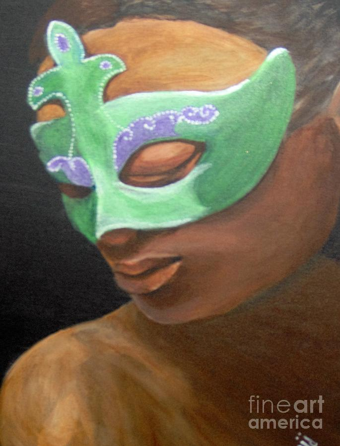 Poetry Painting - Dunbars Mask by Saundra Johnson