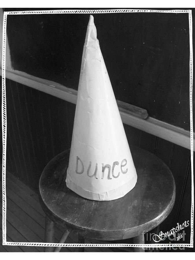 Dunce Cap Photograph - Dunce Cap by Emily Kelley