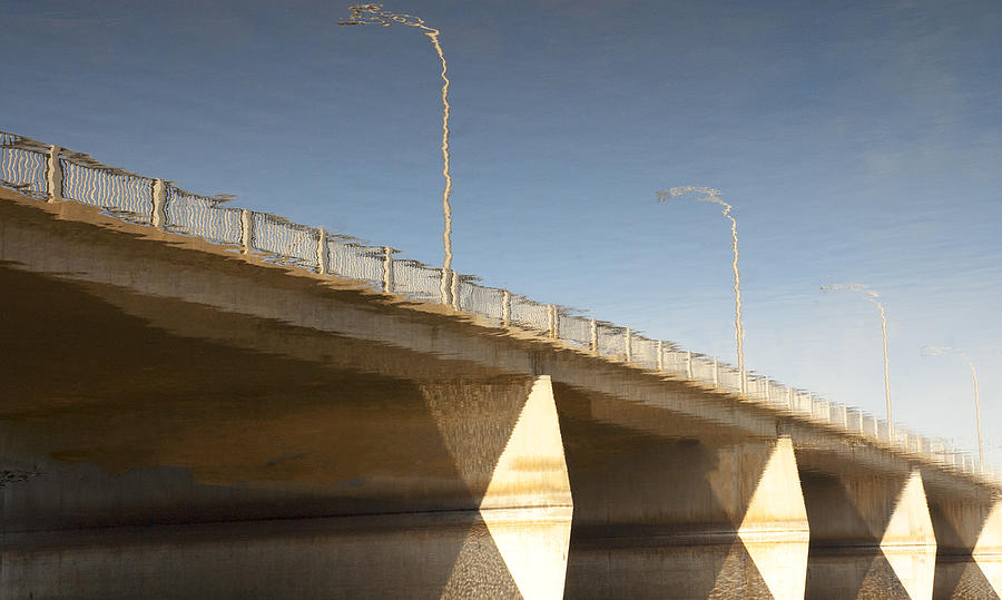Reflection Photograph - Dundas Street Bridge by Michael Rutland