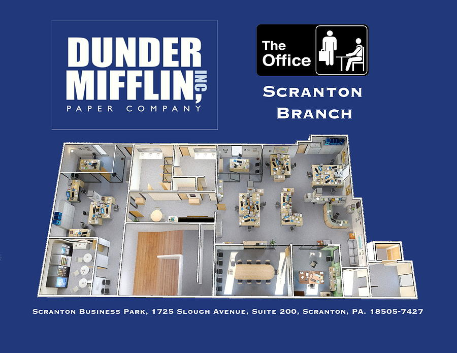 Dunder Mifflin Floor Plan Painting By Paul Van Scott