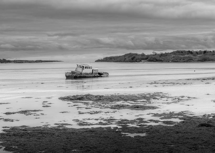 County Down Photograph - Dundrum The Old Boat Wreck by Glen Sumner
