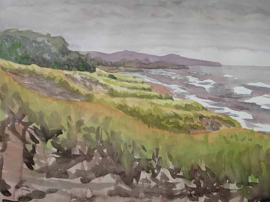 Plein Air Painting - Dune Grass Field by Bethany Lee