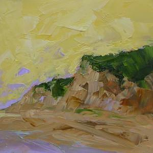 Ocean Painting - Dune Palette by Don McKillop